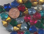12 VINTAGE ASST FANCY SHIELD GLASS 14X12mm GEMS