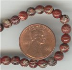 24 VINTAGE GENUINE LEOPARD JASPER 5mm ROUND BEADS