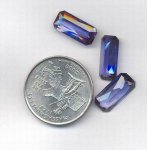 1 VINTAGE SYNTHETIC SAPPHIRE 15X7mm OCTAGON JEWEL GEM 174
