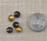 25 VINTAGE GARNET 40ss GLASS DECO PILLOW BACK RHINESTONES