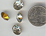 24 ANTIQUE CZECHO CRYSTAL 12X10mm FACETED JEWELS