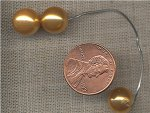 40 VINTAGE JAPANESE GLASS GOLD PEARL 10mm. BEADS
