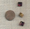 20 VINTAGE GLASS AMETHYST 8mm SQUARE JEWELS