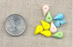 36 VINTAGE PASTELS 13X8mm PEAR GLASS JEWELS