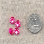 1 VINTAGE GENUINE AUSTRIAN ROSE 9mm SPINEL GEMS