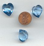 1 VINTAGE AUSTRIAN AQUAMARINE 18.7x17MM HEART GEM