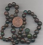24 VINTAGE GENUINE POPPY JASPER 6-10mm ROUND BEADS