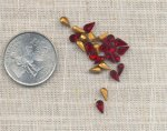 36 VINTAGE AUSTRIAN RUBY 6X3mm TEAR JEWELS
