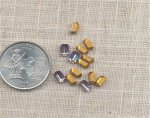 24 VINTAGE AUSTRIAN LIGHT AMETHYST 6X4mm OCTAGON JEWEL
