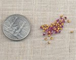 50 VINTAGE AUSTRIAN ROSE 2mm SQUARE GEMS