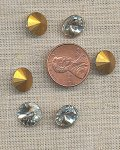24 VINTAGE GLASS CRYSTAL 10mm ROUND RIVOLI JEWELS