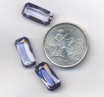1 VINTAGE SYNTHETIC SAPPHIRE 16X8mm. OCTAGON GEM JEWEL