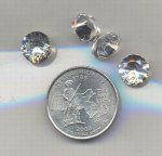 1 VINTAGE AUSTRIAN CRYSTAL .90ct SPINEL 10mm JEWEL