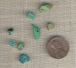 50 VINTAGE GENUINE TURQUOISE 2-10mm CHIP BEADS