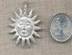 1 VINTAGE CASTED 35mm SUN FACE PENDANT