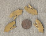 24 VINTAGE BRASS SILHOUETTE BIRD 30mm. PLAQUE FINDINGS
