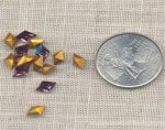 12 VINTAGE AUSTRIAN AMETHYST 8X5.5mm DIAMOND JEWELS