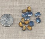 12 ANTIQUE AUSTRIAN LIGHT SAPPHIRE 10X8mm OCTAGON GEMS