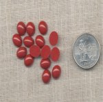 50 VINTAGE CORNELLIAN 10X8mm OVAL CABOCHONS