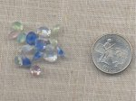 36 VINTAGE ASSORTED GIVRE GLASS FACETED GEMS