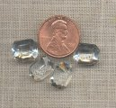 12 VINTAGE CRYSTAL GLASS 10x12mm. OCTAGON JEWELS