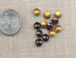 50 VINTAGE GARNET 35ss GLASS MACHINE CUT RHINESTONES