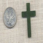1 VINTAGE GENUINE JADE 41mm CROSS PLAQUE