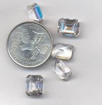1 VINTAGE AUSTRIAN CRYSTAL 11X9mm OCTAGON SPINEL JEWEL