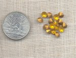 50 VINTAGE TOPAZ GLASS MACHINE CUT 5mm RHINESTONES