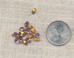 36 VINTAGE AUSTRIAN LIGHT AMETHYST 6X4mm OVAL JEWELS