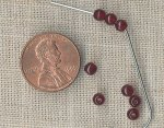 50 VINTAGE GLASS RUBY 4mm.SMOOTH ROUND BEADS