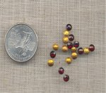 100 VINTAGE GARNET 18ss GLASS PILLOWBACK RHINESTONES