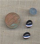 12 VINTAGE GLASS MONTANA SAPPHIRE 10x8mm OVAL CABOCHONS