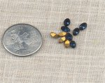 24 VINTAGE AUSTRIAN MONTANA 6X4mm OVAL JEWEL GEM