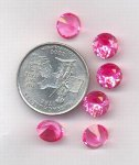 1 VINTAGE AUSTRIAN ROSE 8.5mm ROUND SPINEL JEWEL