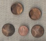 10 VINTAGE BRASS BAROQUE 23mm ROUND FINDING CABOCHONS