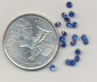 12 VINTAGE SAPPHIRE SYNTHETIC 9ss RHINESTONES