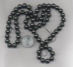 24 VINTAGE GENUINE HEMATITE 10mm. ROUND BEADS