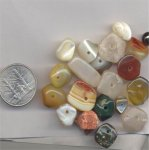 19 VINTAGE GENUINE MIXED 18mm SMOOTH NUGGET BEADS