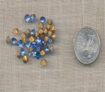 50 VINTAGE LIGHT SAPPHIRE 5mm GLASS RHINESTONES
