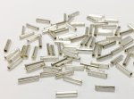500 PIECES VINTAGE SILVER CZECHO GLASS 9x2mm BUGLE BEADS