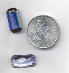 1 VINTAGE SYNTHETIC SAPPHIRE 18X9mm OCTAGON JEWEL GEM