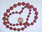 "20"" VINTAGE GENUINE RED JASPER 8-12mm BEADED STRAND"