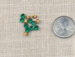 50 VINTAGE EMERALD 5mm GLASS MACHINE CUT RHINESTONES