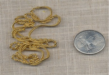 """1 VINTAGE GOLD ROPE CHAIN SPRING CLASP 24"""" NECKLACE"""